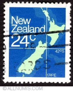 Image #1 of 24¢ 1982 - Country's map