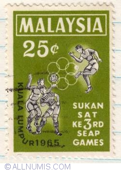 Image #1 of 25¢ 1965 - 3rd South East Asian Peninsular Games