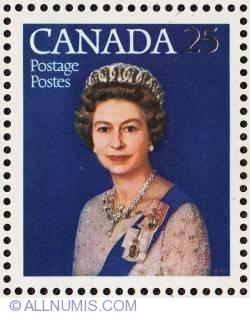 Imaginea #1 a 25¢ Queen Elizabeth II Silver Jubilee 1977