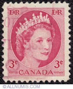 Imaginea #1 a 3¢ Elizabeth II 1954