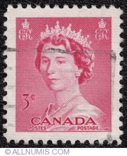 Imaginea #1 a 3¢ Queen Elizabeth II 1953