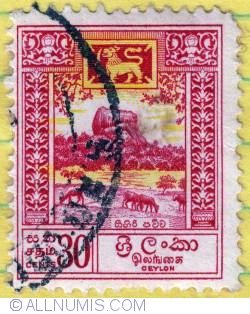 Image #1 of 30 Cents Sigiriya-Lion Rock 1958