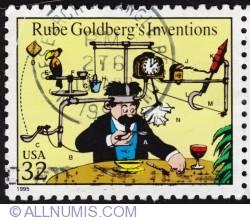 32¢ Rube Goldberg's Inventions 1