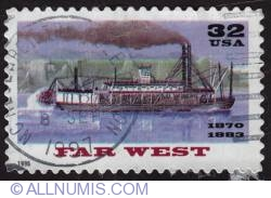 Image #1 of 32¢ Riverboats far west 1996