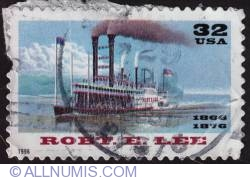 Image #1 of 32¢ Riverboats Robert E Lee 1996