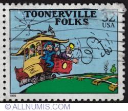 32¢ Toonerville folks 1995