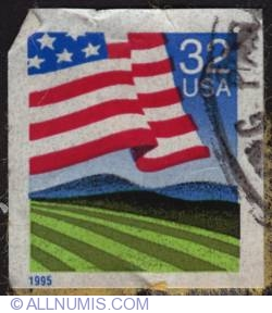 Image #1 of 32¢ USA flag 1995
