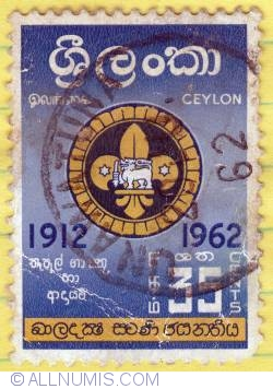35 Cents Golden Jubilee of Ceylon Boy Scouts 1962