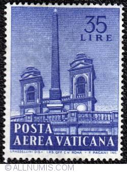 Image #1 of 35 lire Obelisks-Aerial post 1959