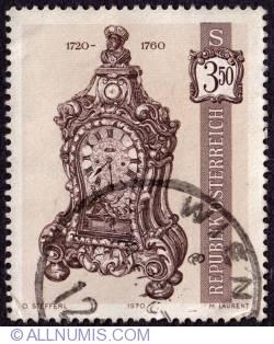 Imaginea #1 a 3.50 Schilling  Bracket clock, 1720-60 1970