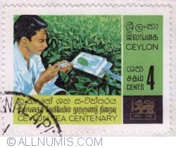 Image #1 of 4 Cents Ceylon Tea Centenary 1967