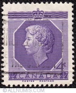 Imaginea #1 a 4¢ H.M. Queen Elizabeth II, Coronation 1953