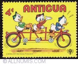 Image #1 of 4¢ Huey-Dewey-Louie riding a bike 1980