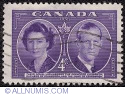 4¢ 1951 - Princess Elizabeth and the Duke of Edinburgh
