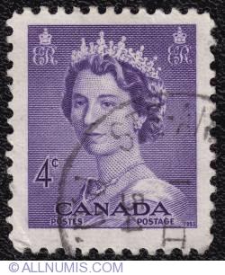 Imaginea #1 a 4¢ Queen Elizabeth II 1953
