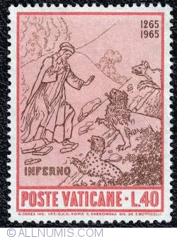 40 L. Dante and the three beasts at the entrance to the inferno 1965