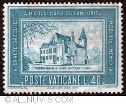 Image #1 of 40 Lire 1964 - A Nicolai Card. Cusani Obitu