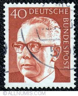 Image #1 of 40 Pfennig Gustav Heinemann (1899-1976) 1971