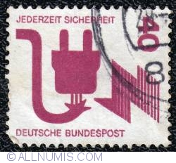 40 Pfennig Danger from defective connectors 1971