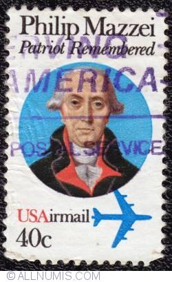 Image #1 of 40¢ Philip Mazzei 1980