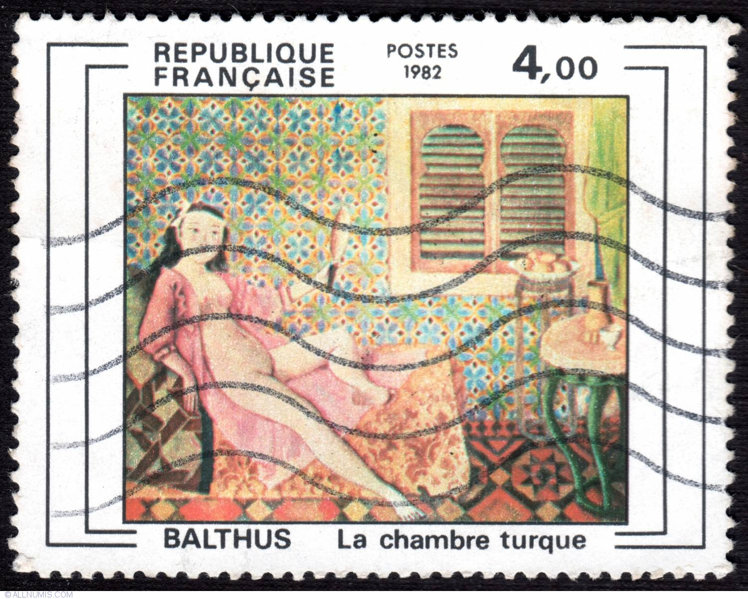 4 00 fr balthus la chambre turque 1982 art painting for Balthus la chambre turque
