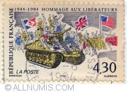 Image #1 of 4,30 francs 1994 - Hommage aux libérateurs