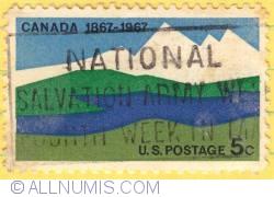 Image #1 of 5¢ Canadian landscape 1967