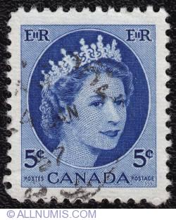 5¢ Elizabeth II 1954