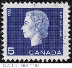 5¢ 1963 -  Elizabeth II-Head of wheat