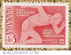 Imaginea #1 a 5¢ Pan Americam Games, Winnipeg 1967