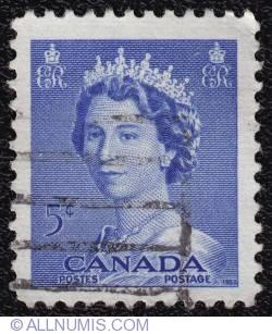 Imaginea #1 a 5¢ Queen Elizabeth II 1953