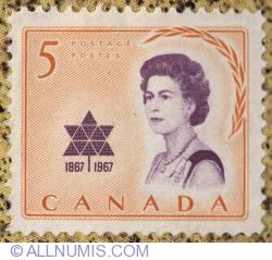 Imaginea #1 a 5¢ Royal visit 1967