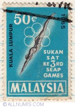 Image #1 of 50¢ 1965 - 3rd South East Asian Peninsular Games
