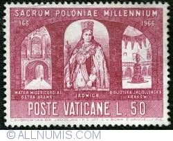 Image #1 of 50 L. Queen Jadwiga, Holy Gate and Jagellon University Library 1966