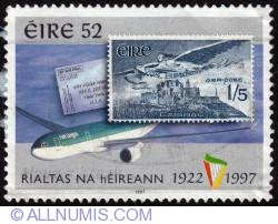 Imaginea #1 a 52 75 Years of Irish Independence-air mail 1997