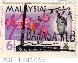 Image #1 of 6¢ 1965 - 4th World Orchids Conference-Selangor