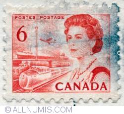 Imaginea #1 a 6¢ 1968 - Queen Elizabeth II, Transport and Communications