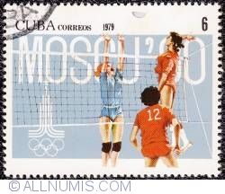 Image #1 of 6¢ 1980 Moscow Olympics 1979