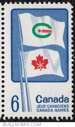 Imaginea #1 a 6¢ Canada games 1969