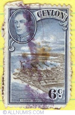 Image #1 of 6 cents Colombo harbour 1938