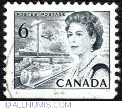 6¢ 1970 - Elizabeth II, Transport and Communications