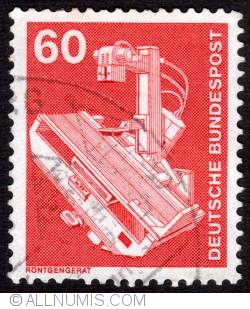 60 Pfennig X-Ray table 1978