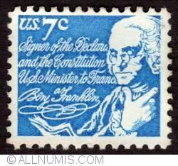 Image #1 of 7¢ Benjamin Franklin 1972