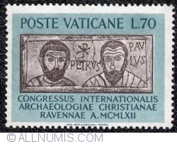 Image #1 of 70 lire International Congress of Christian Archaeology 1962