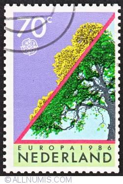 Image #1 of 70c 1986 - Europa -Trees