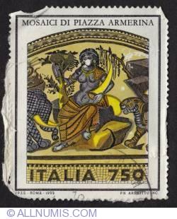 Image #1 of 750 Mosaic of Roman villa, piazza Armerina, Enna 1993