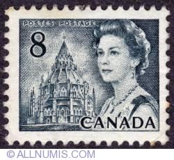 Imaginea #1 a 8¢ 1971 -  Queen Elizabeth II, Library of Parliament