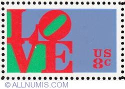 Image #1 of 8¢ LOVE 1973
