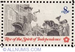 Image #1 of 8¢ Posting a Broadside-Colonial communication 1973
