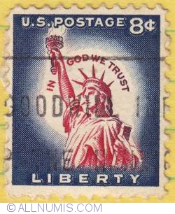 Image #1 of 8¢ Statue of Liberty 1958
